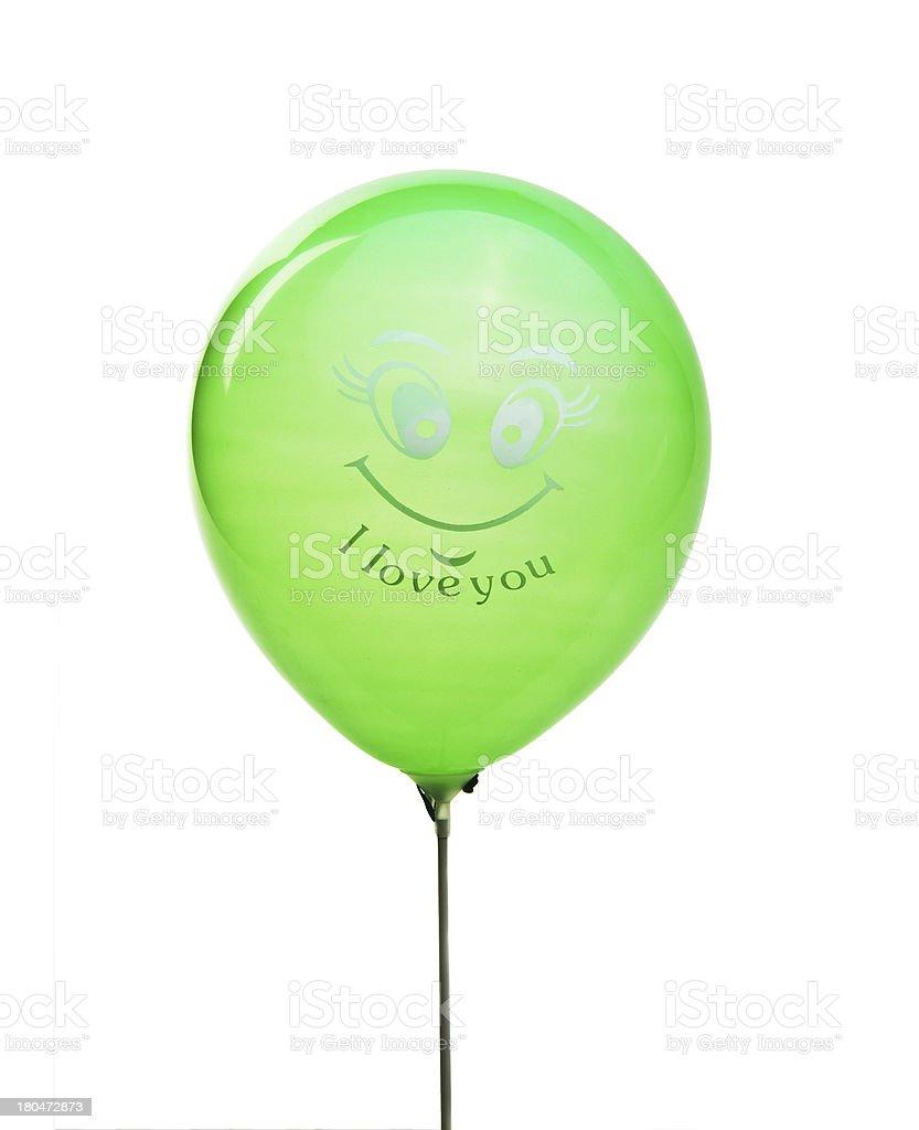 Love balloon isolated on white royalty-free stock photo