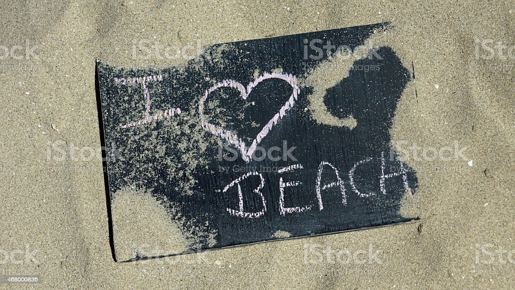 I love beach stock photo