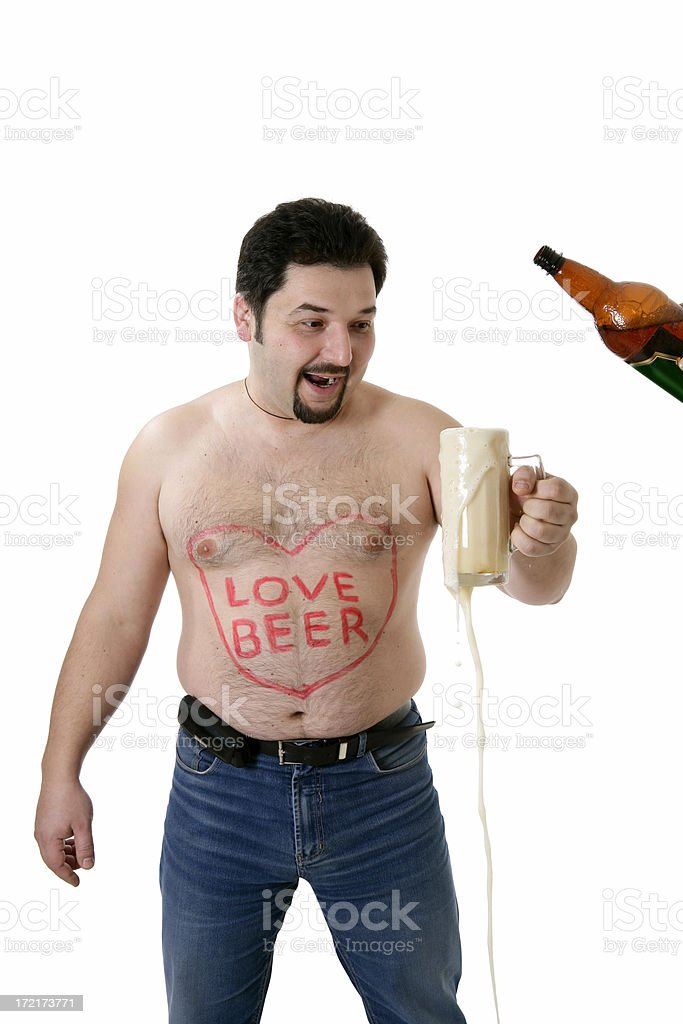 I love beer!!! royalty-free stock photo