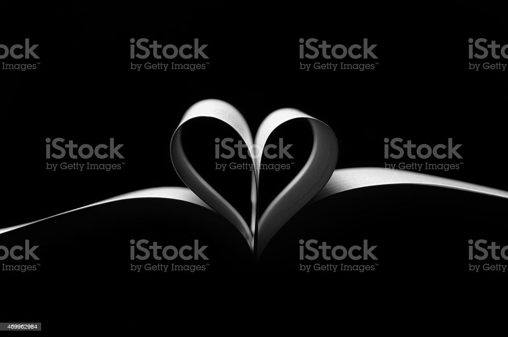 love behind the book stock photo