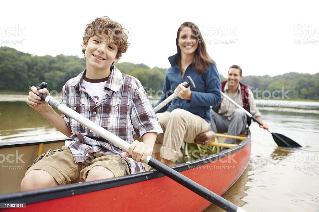 I love being adventurous with my parents! royalty-free stock photo
