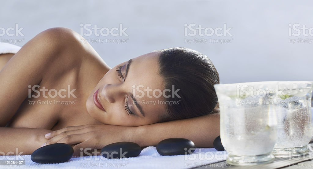 I love being pampered royalty-free stock photo