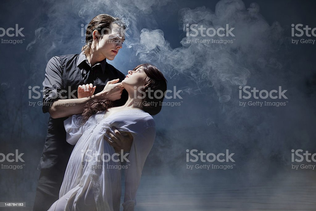 Love Between Dark and Light stock photo