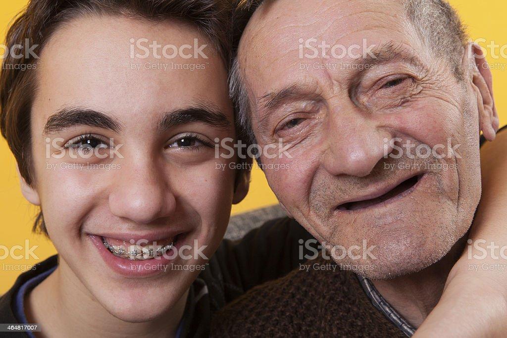 Love between generations stock photo