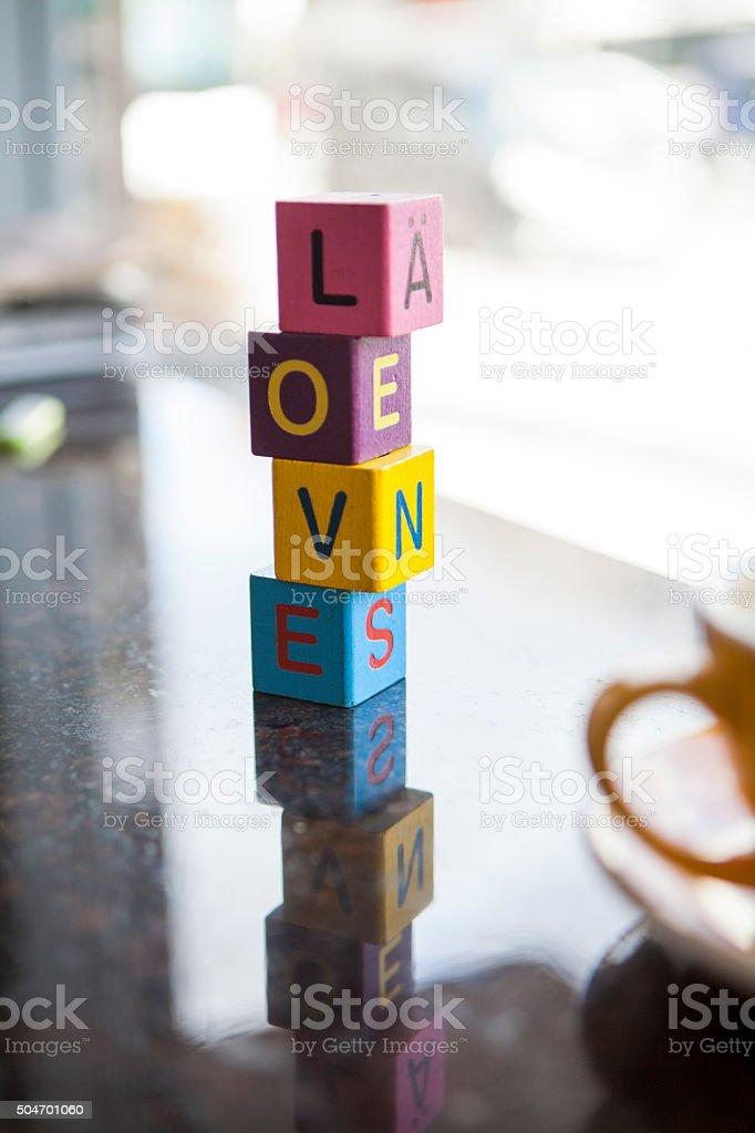 Love Blocks stock photo