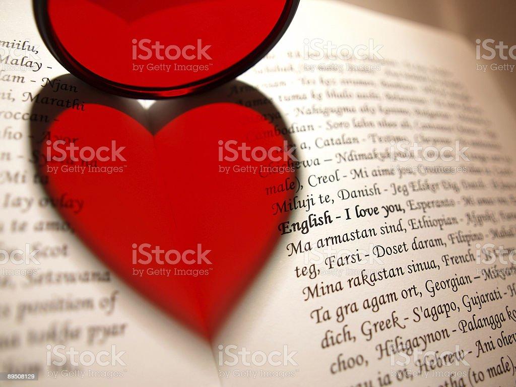 love - book heart royalty-free stock photo