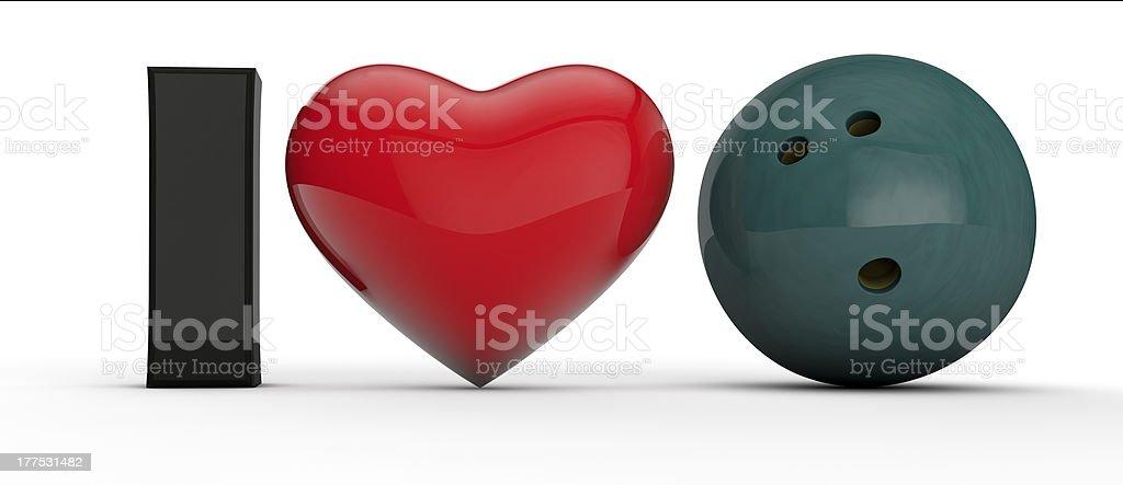 I Love Bowling royalty-free stock photo