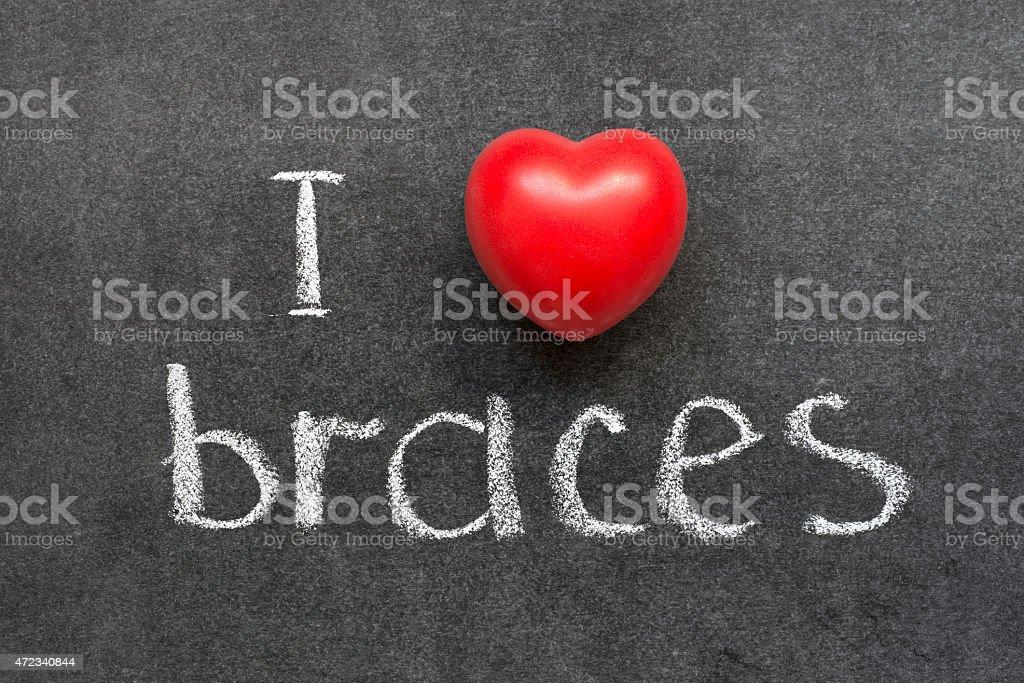 love braces stock photo