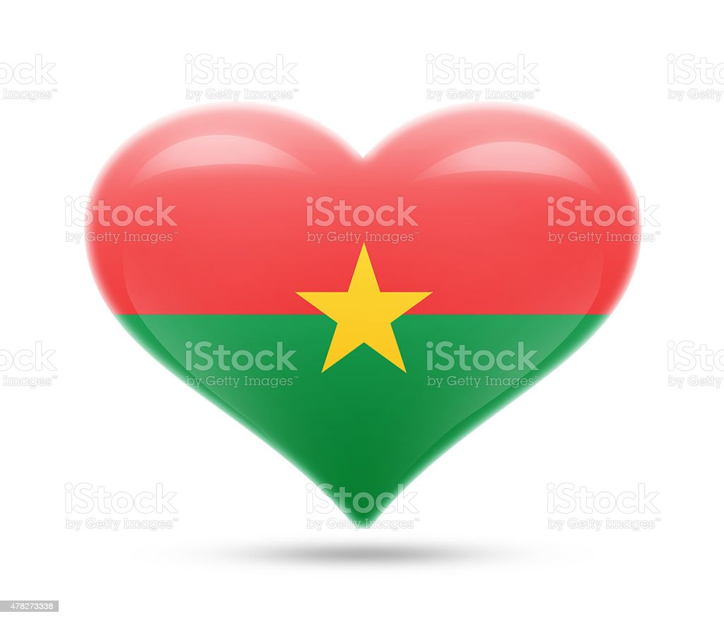 Love Burkina Faso, Ouagadougou stock photo