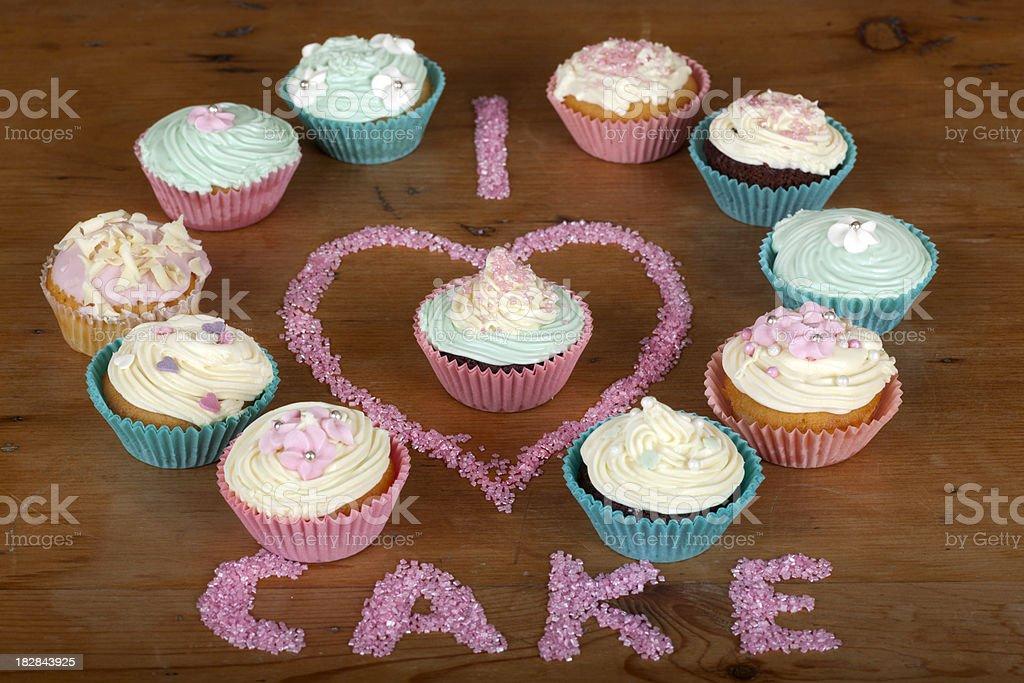 I Love Cake stock photo