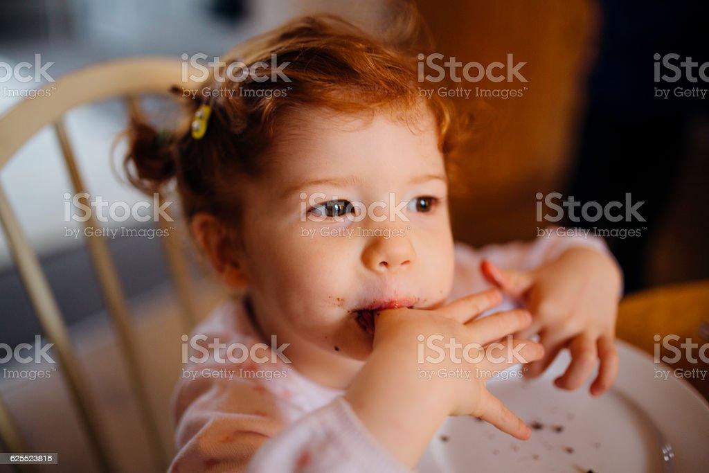 I Love Chocolate Cake! stock photo
