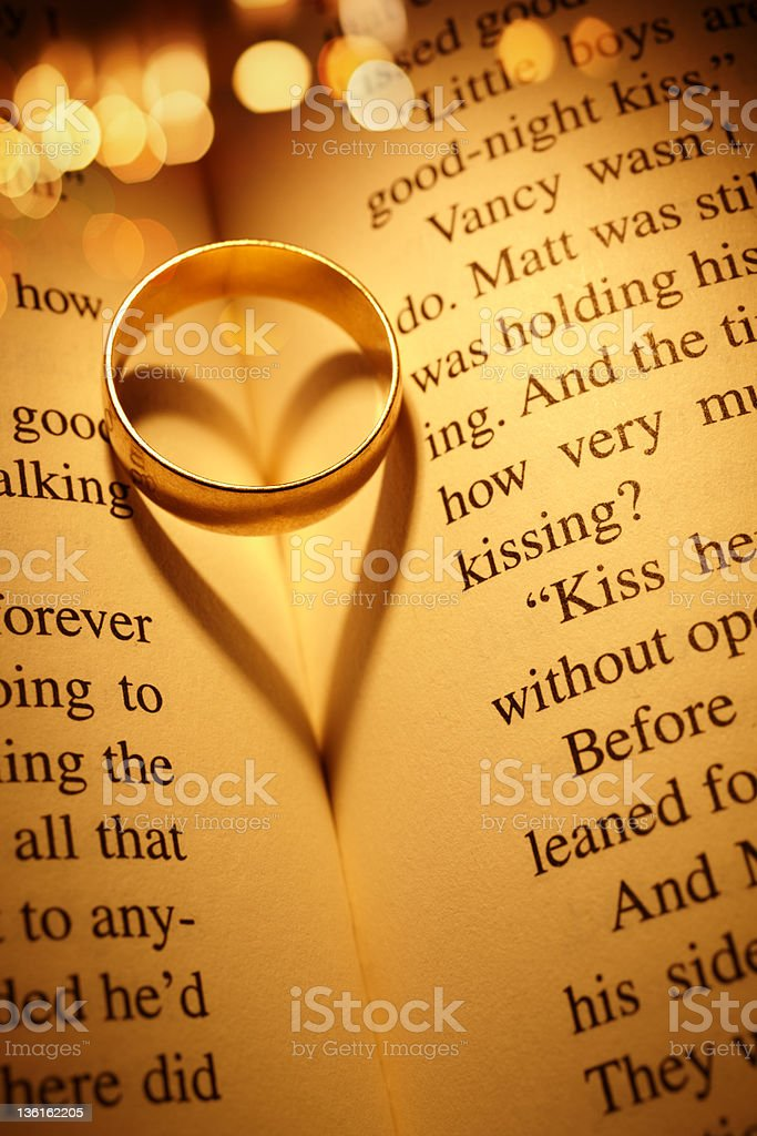 Love concept with  wedding ring royalty-free stock photo