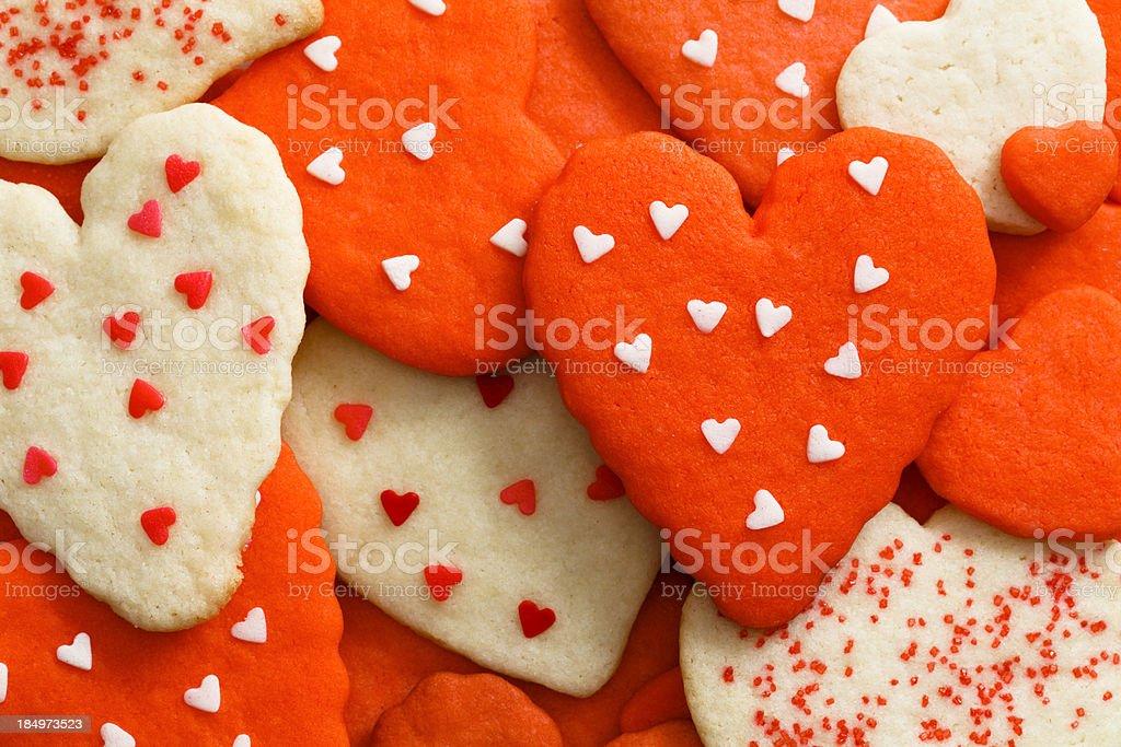 Love Cookies Background stock photo