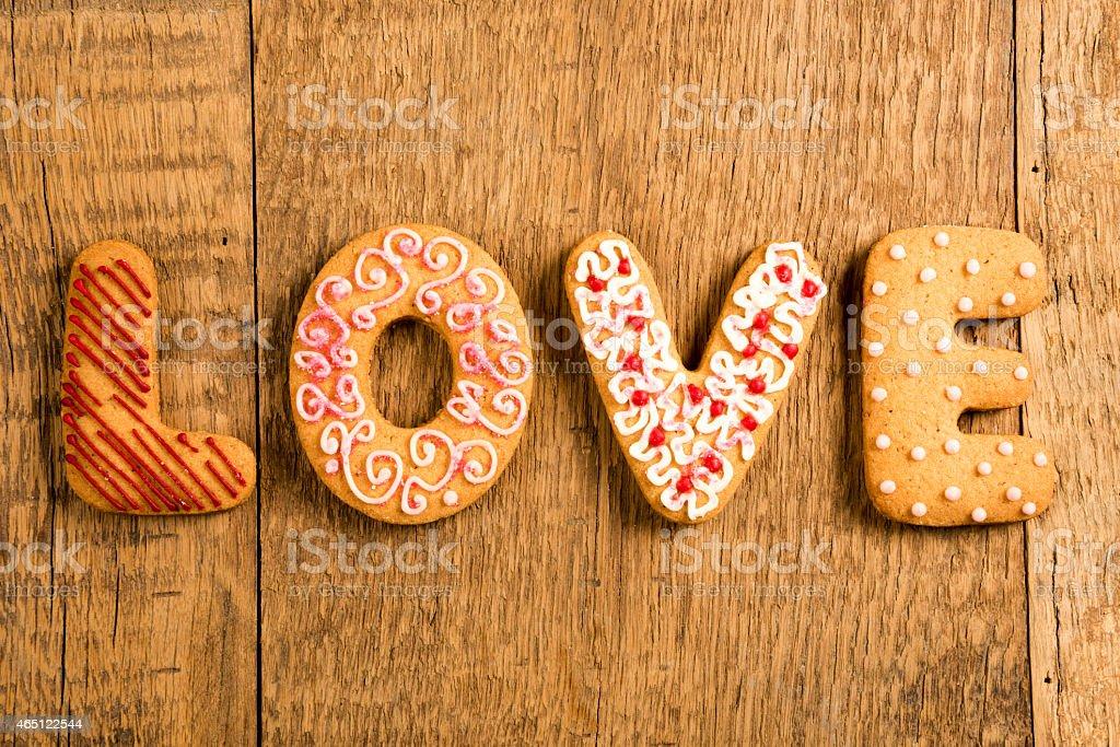 Love cookies stock photo