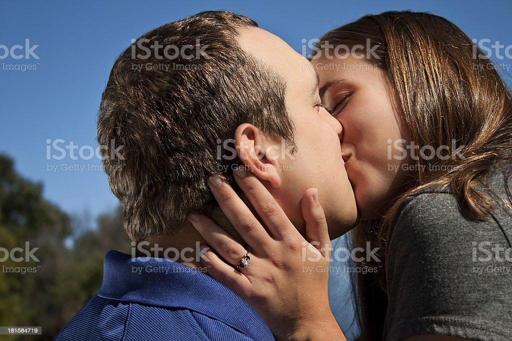 Love Couple Kiss royalty-free stock photo