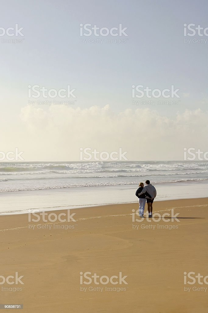 love couple romantic beach royalty-free stock photo