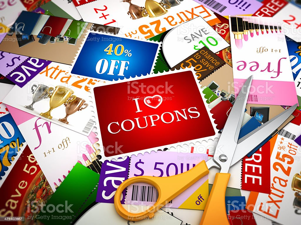 I love coupons stock photo