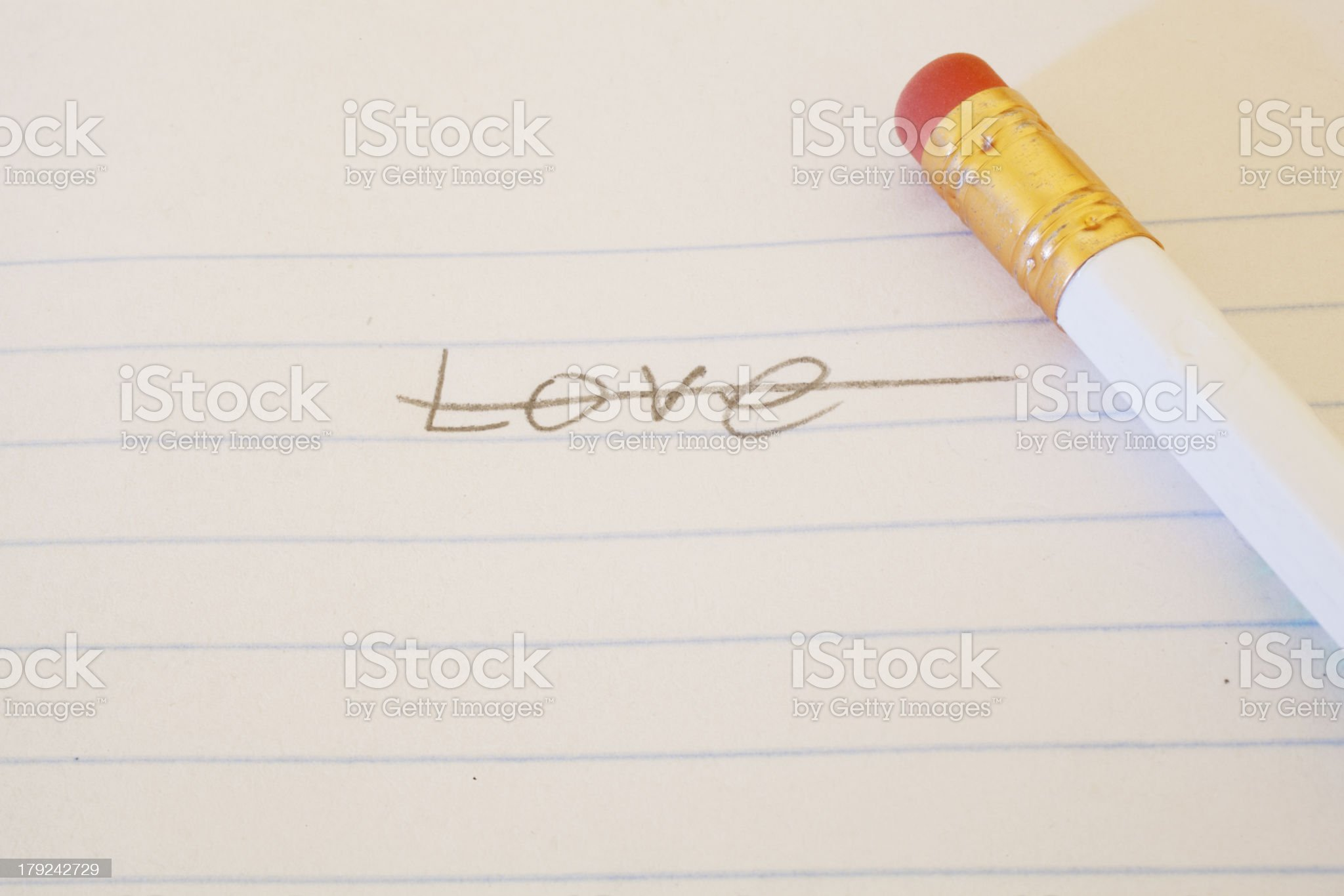 Love Crossed Out royalty-free stock photo
