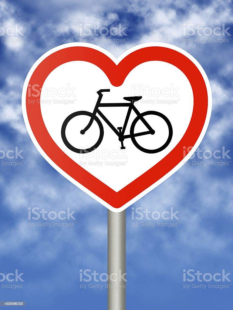 I love cycling sign royalty-free stock photo