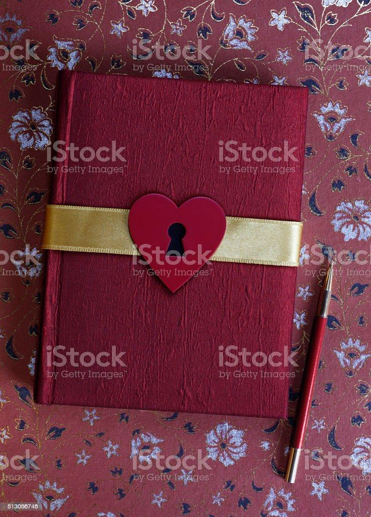 Love Diary stock photo