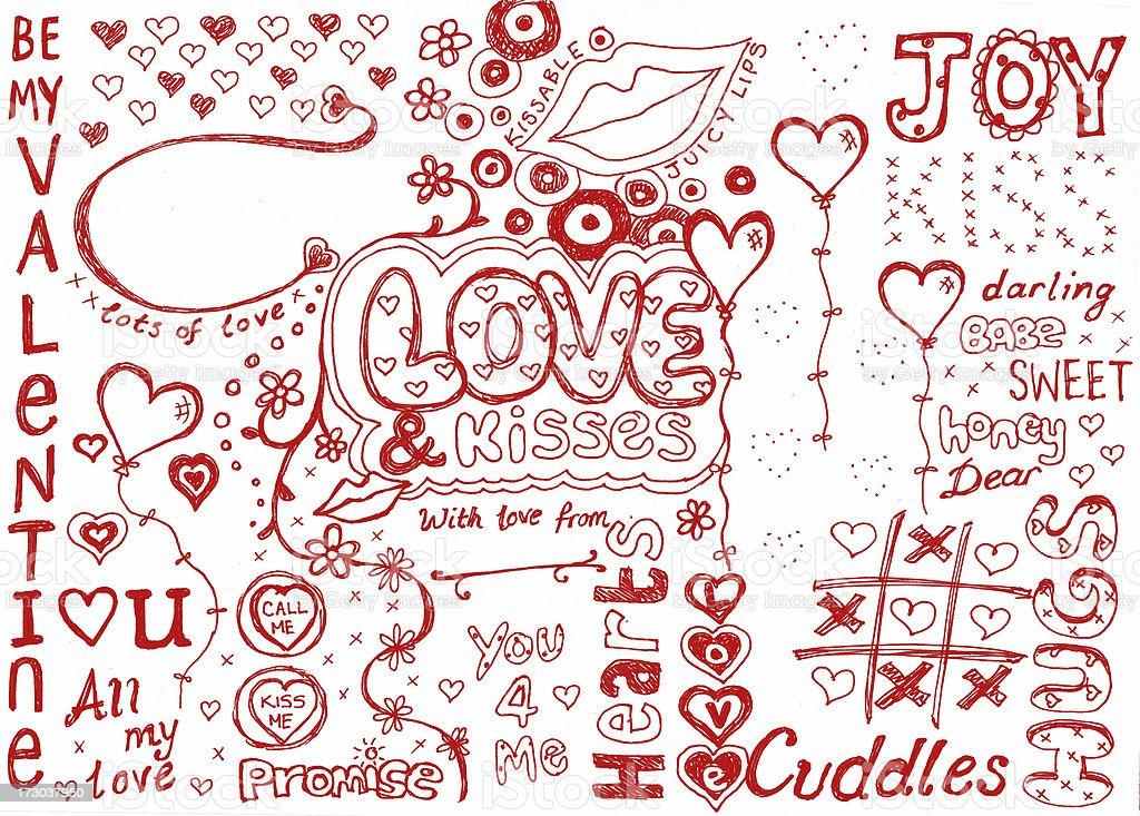 I love doodles royalty-free stock photo