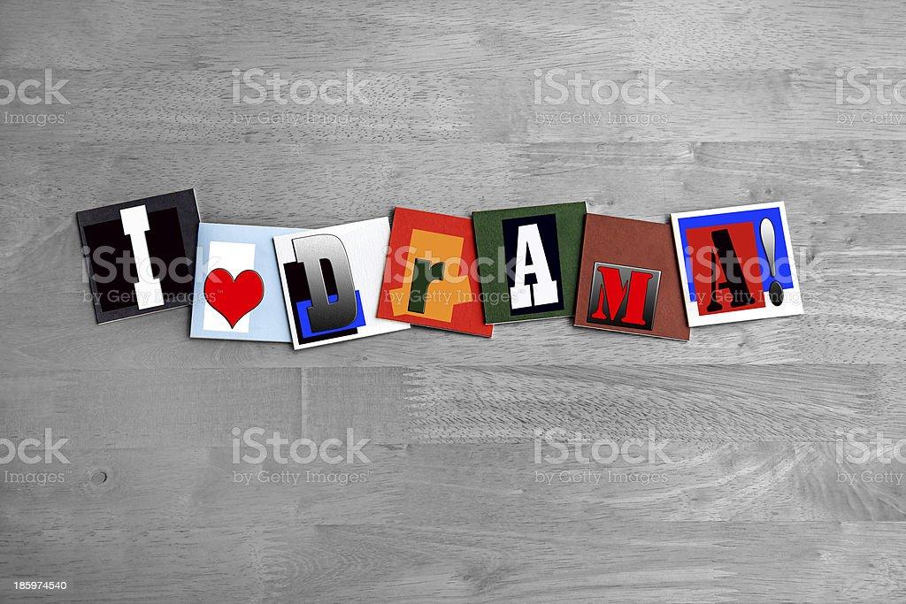 I Love Drama sign - art design stock photo