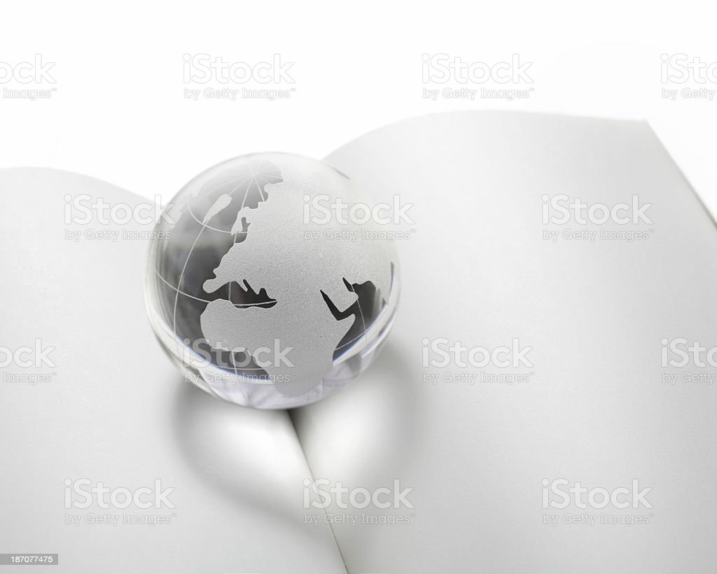 Love earth, book and knowledge royalty-free stock photo