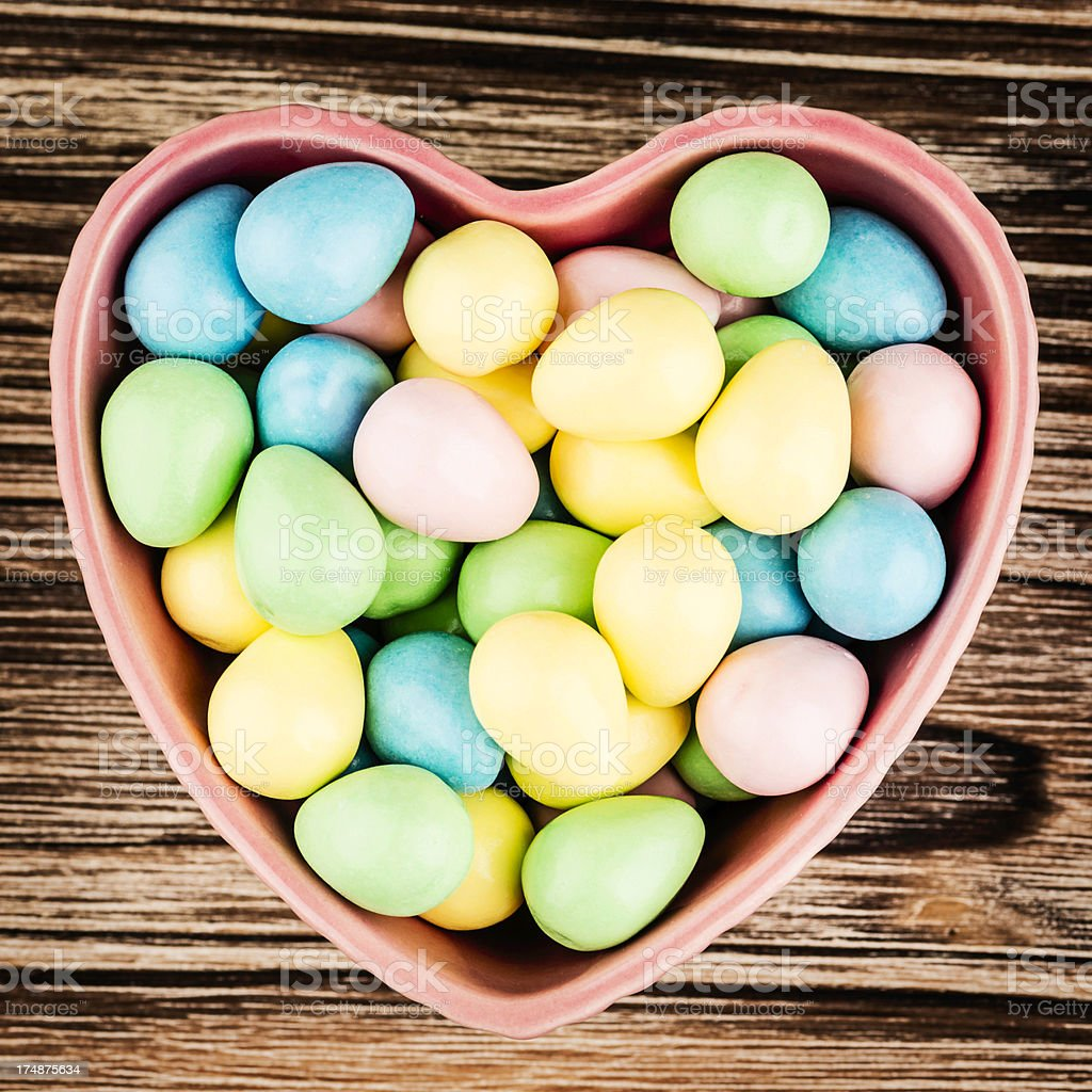 I Love Easter Candy royalty-free stock photo