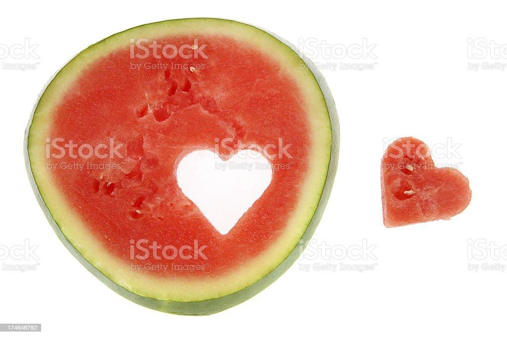 I Love Eating Watermelon royalty-free stock photo