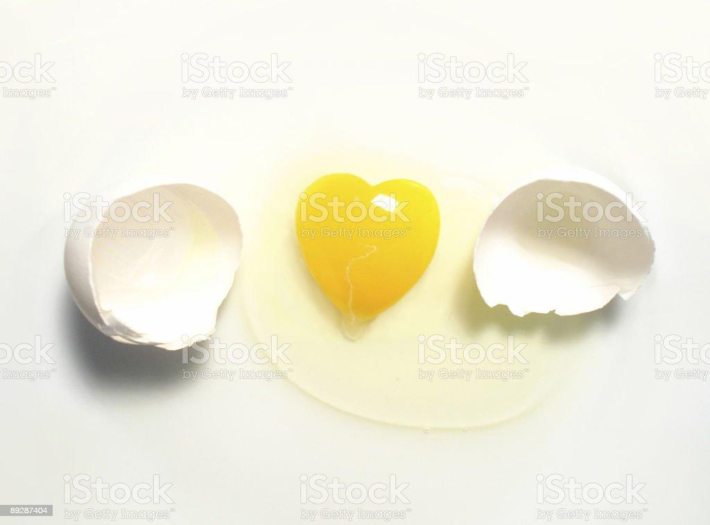 Love - egg heart royalty-free stock photo