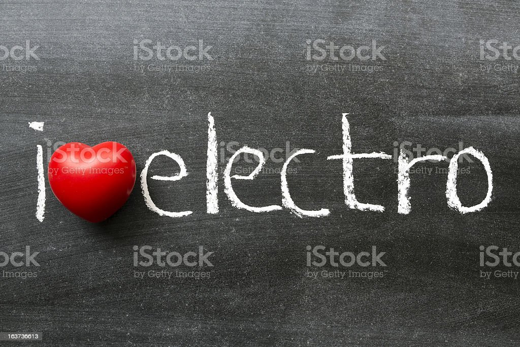 love electro royalty-free stock photo