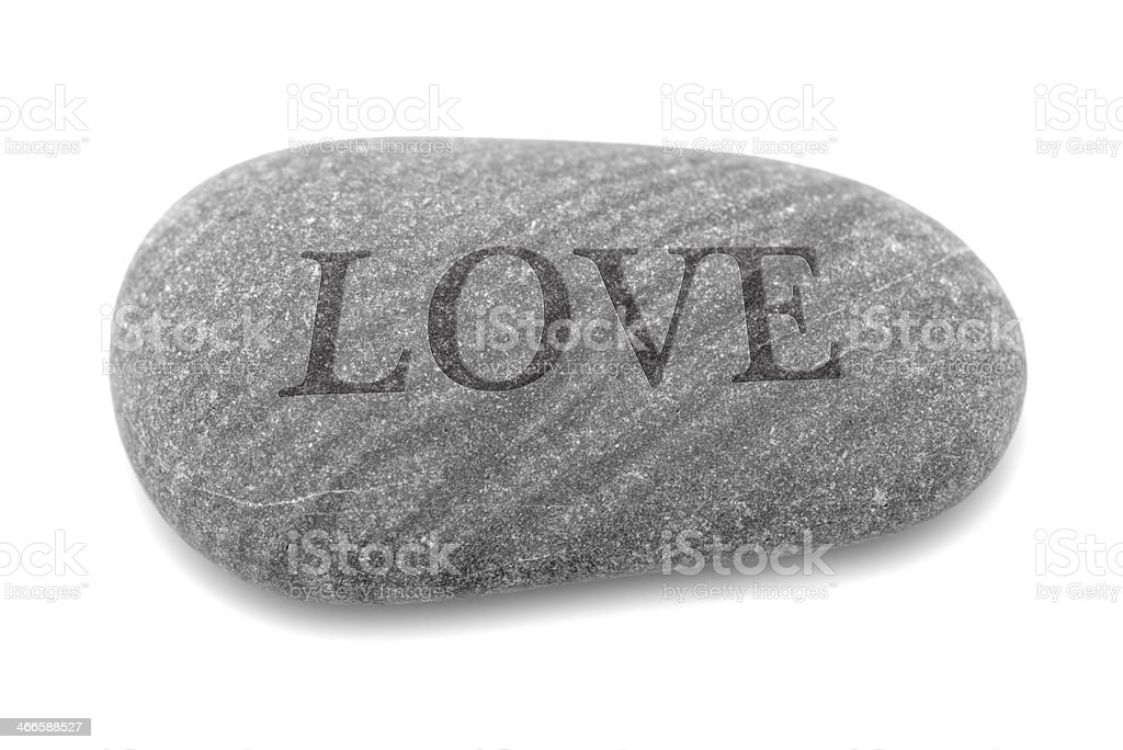 Love: etched in stone stock photo