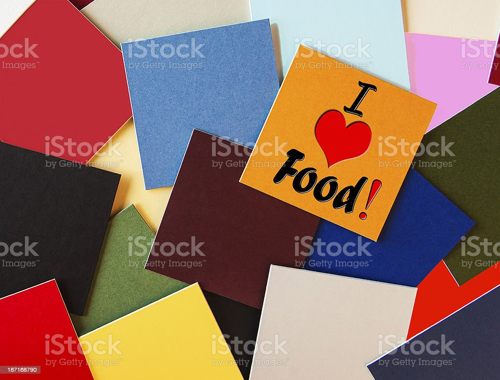 I Love Food - sign royalty-free stock photo
