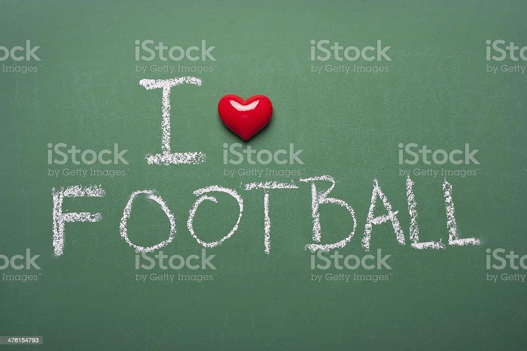 I love football royalty-free stock photo