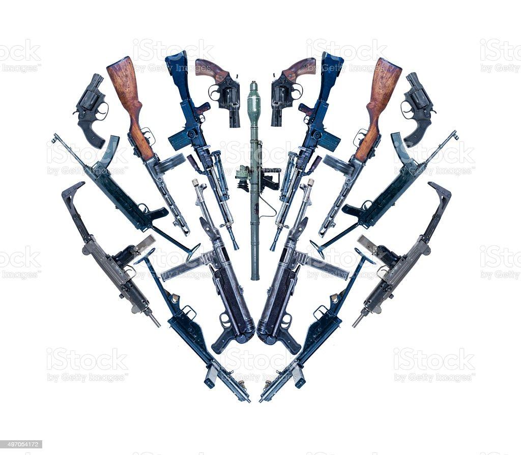 love for guns stock photo