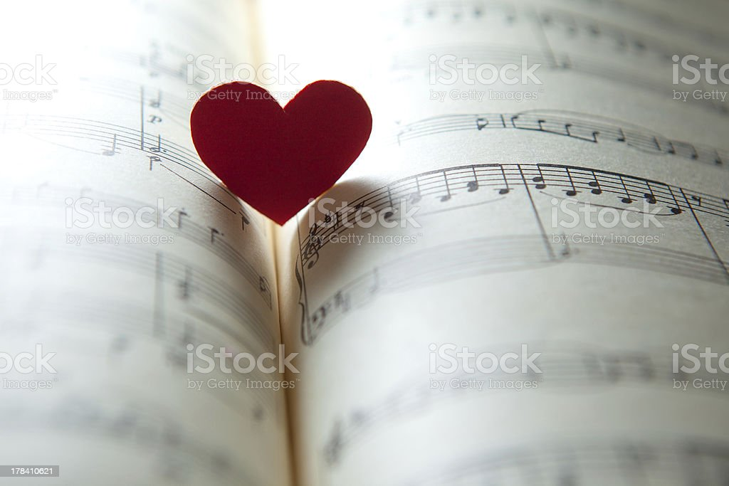 Love for music. stock photo