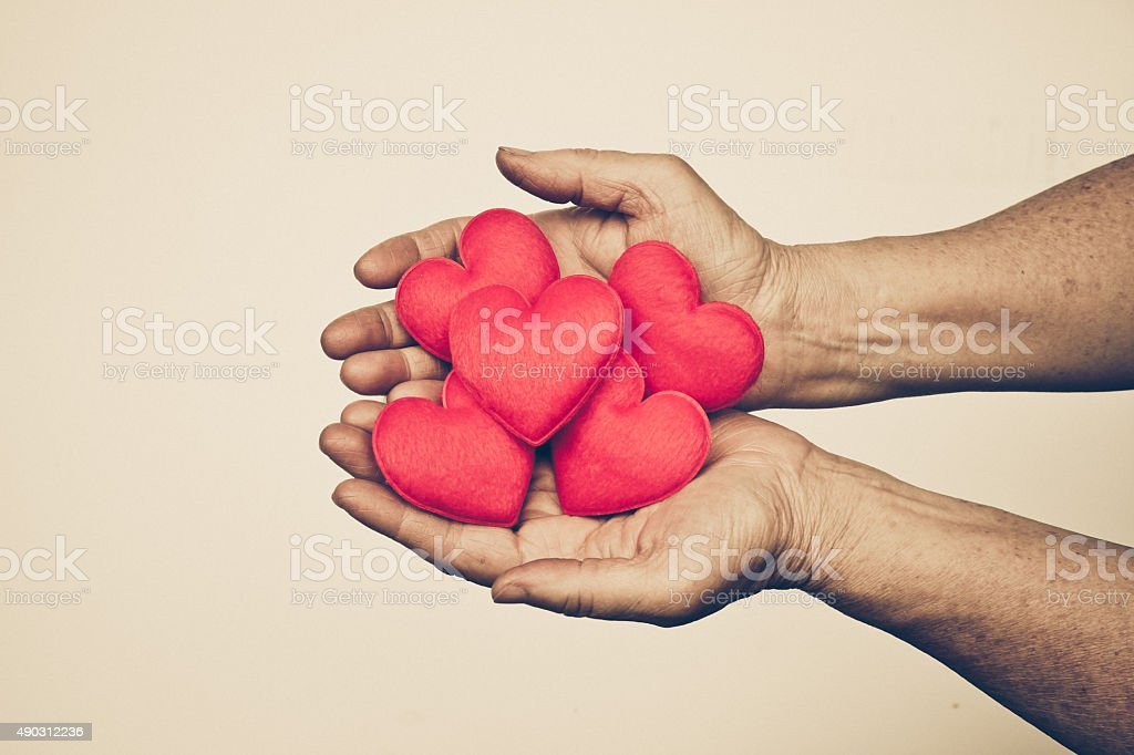 Love for the elderly stock photo