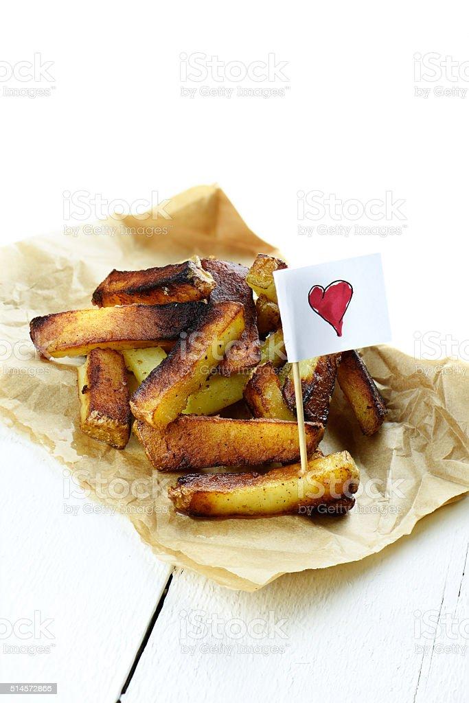 Love Fries stock photo