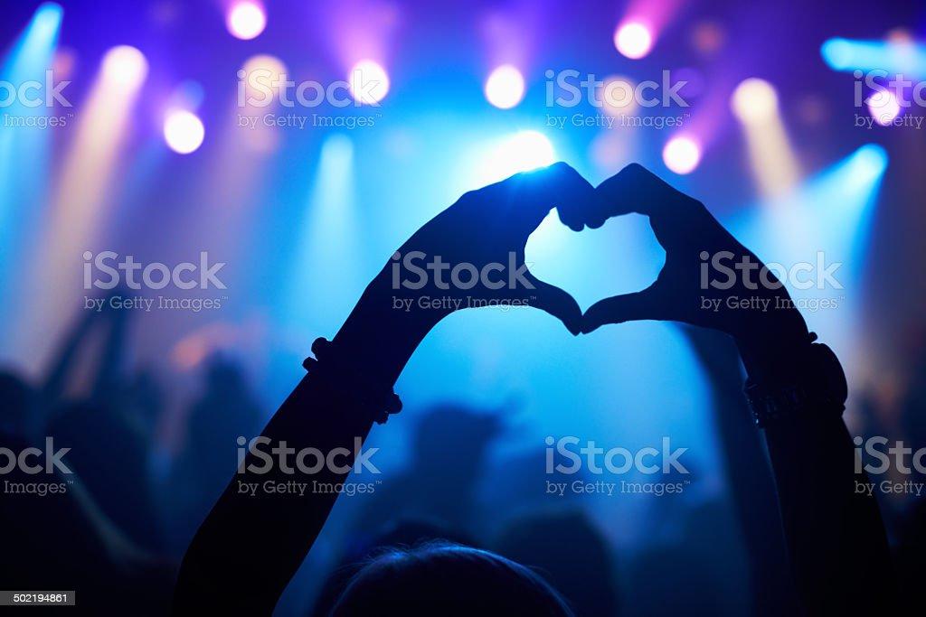 Love from a loyal fan stock photo