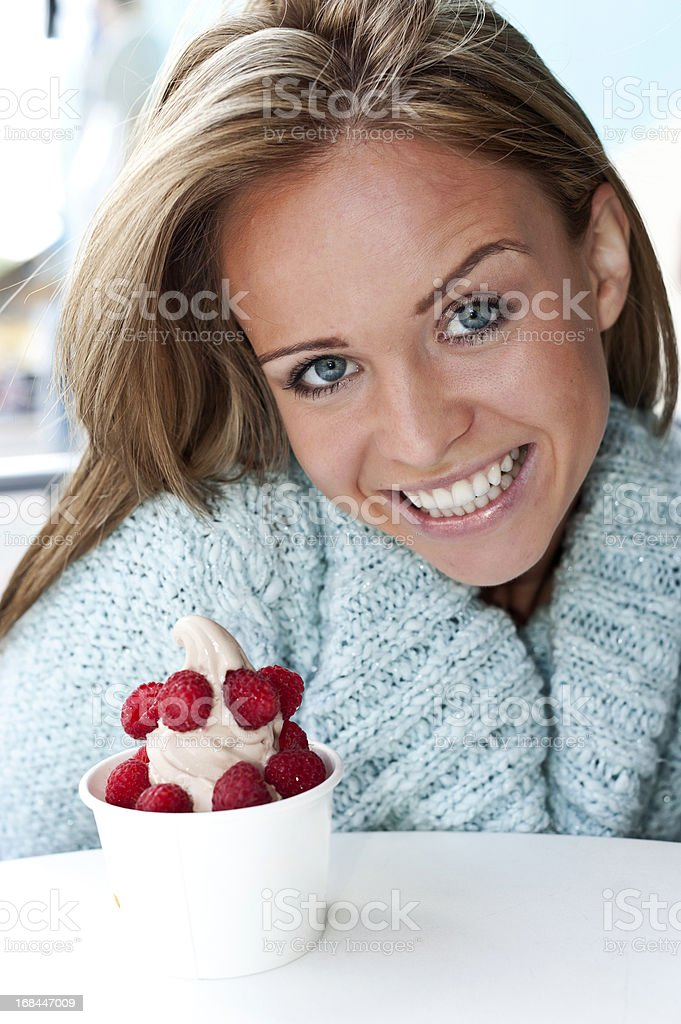 I love frozen yogurt royalty-free stock photo
