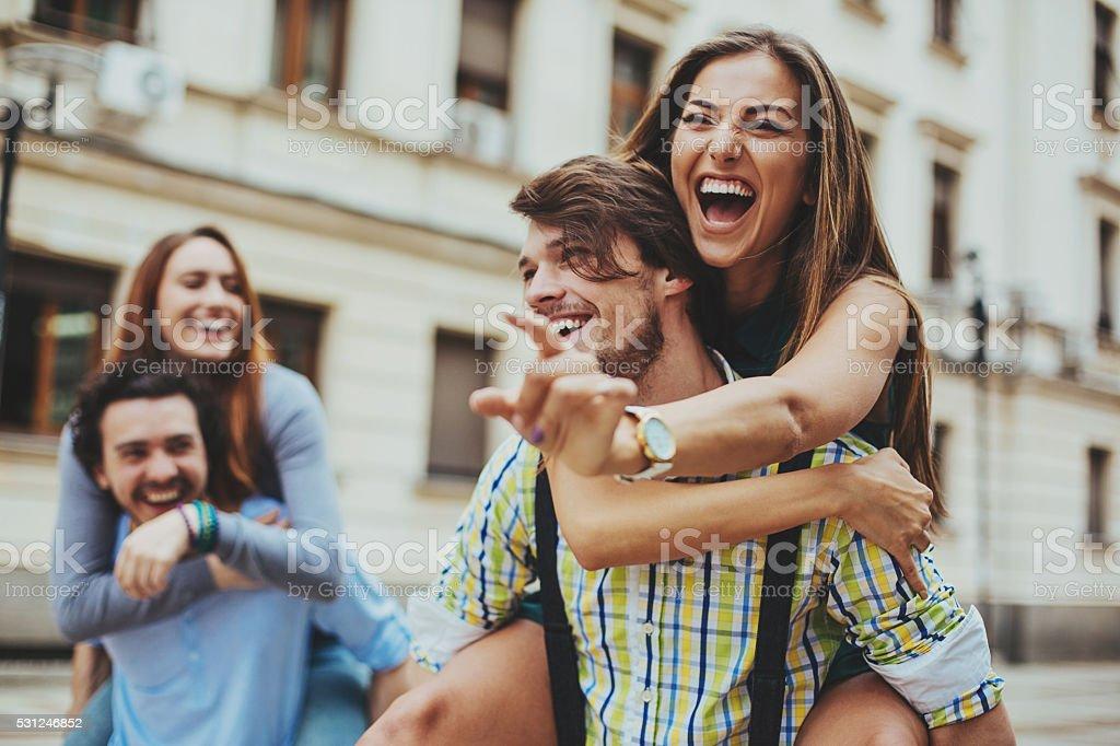 Love fun stock photo