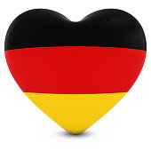 Love Germany Concept Image - Heart textured with German Flag