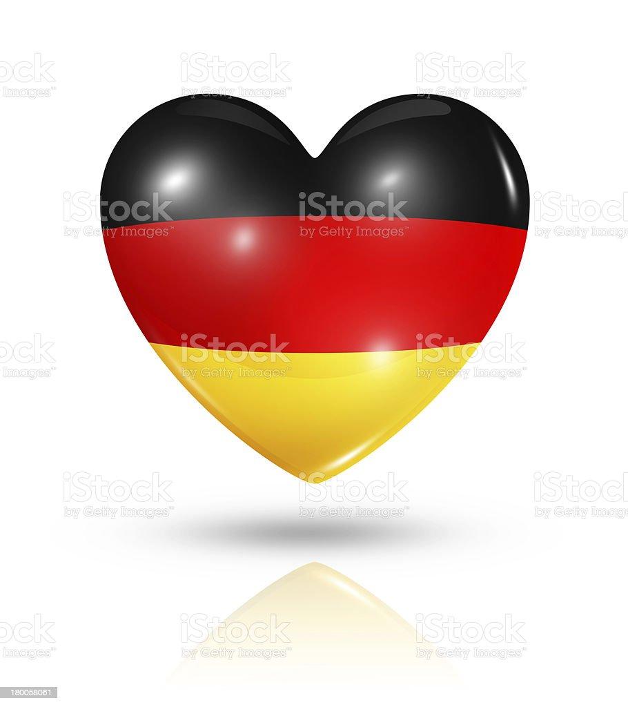 Love Germany, heart flag icon royalty-free stock photo