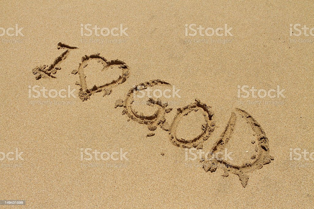 I love God royalty-free stock photo