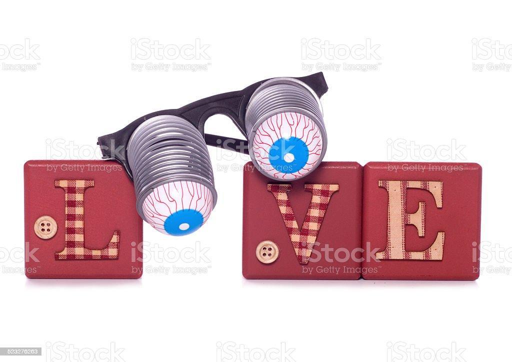 Love goggles stock photo