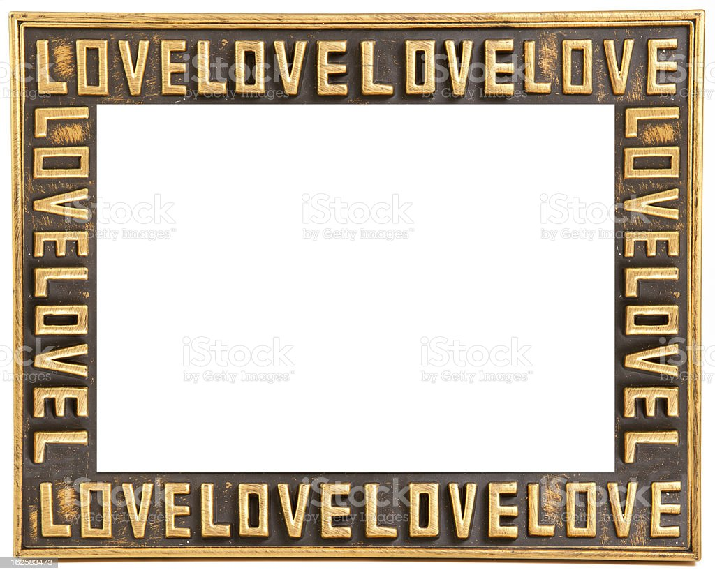 love gold frame royalty-free stock photo
