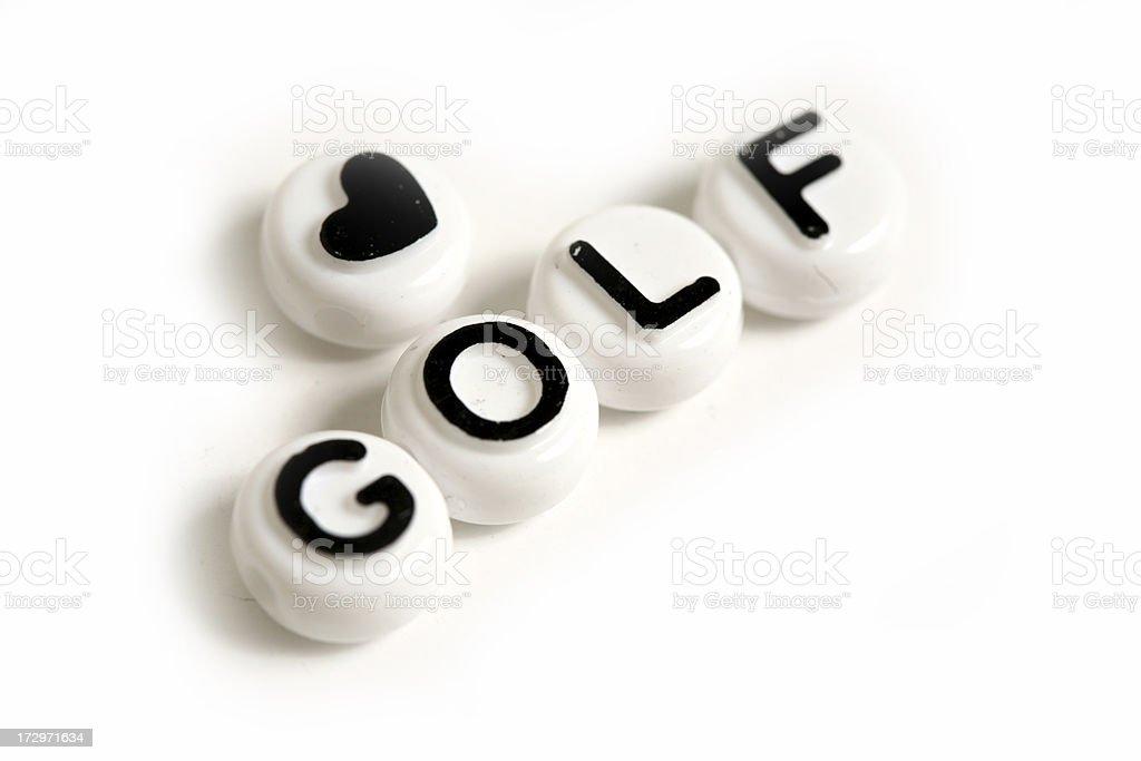 Love Golf royalty-free stock photo