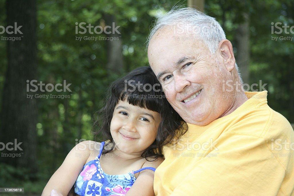 I Love Grandpa! royalty-free stock photo