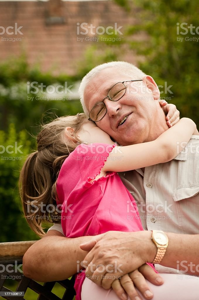 Love - grandparent with grandchild portrait stock photo