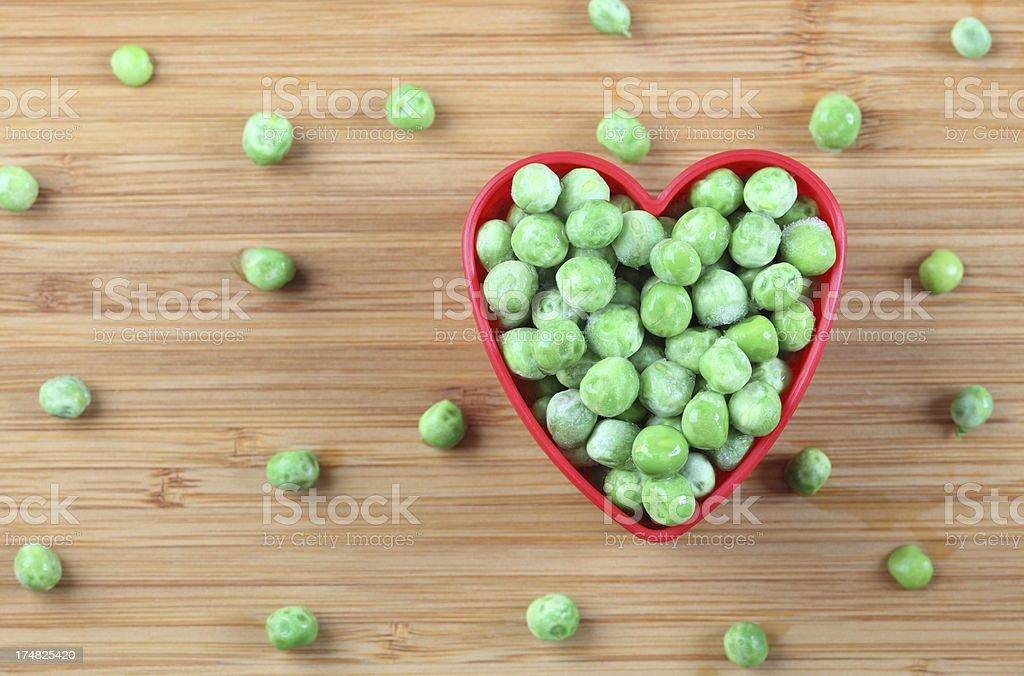 I love green peas royalty-free stock photo